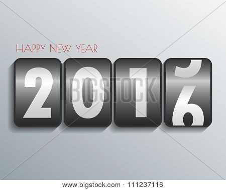2016 Happy New Year Mechanical Timetable Background.vector