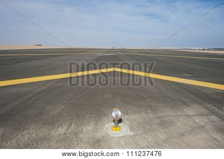 Approach Light On A Airport Runway