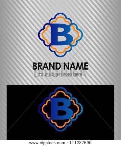 B symbol logo letter