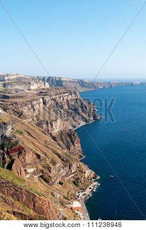 Santorini Coastline