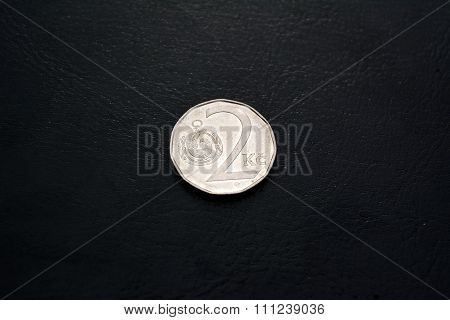 Czech money -  2 kronas (2000 year)
