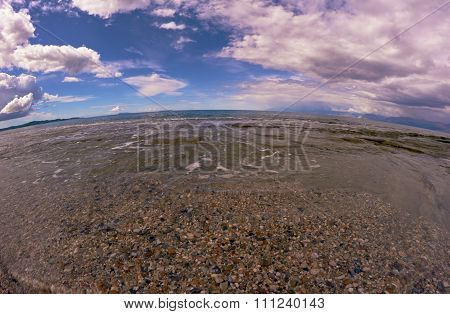 Sandy beach on the Greek island