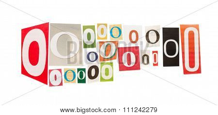 O cut out letter