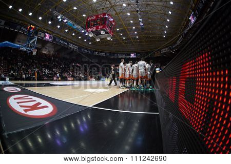 VALENCIA, SPAIN - DECEMBER 12th: Fuenlabrada players during Spanish League between Valencia Basket Club and Montakit Fuenlabrada at Fonteta Stadium on December 12, 2015 in Valencia, Spain