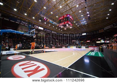 VALENCIA, SPAIN - DECEMBER 12th: Stadium during Spanish League between Valencia Basket Club and Montakit Fuenlabrada at Fonteta Stadium on December 12, 2015 in Valencia, Spain