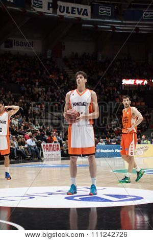 VALENCIA, SPAIN - DECEMBER 12th: Gonzalez during Spanish League between Valencia Basket Club and Montakit Fuenlabrada at Fonteta Stadium on December 12, 2015 in Valencia, Spain