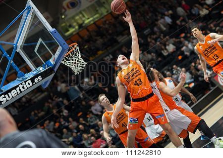VALENCIA, SPAIN - DECEMBER 12th: Sikma (43) during Spanish League between Valencia Basket Club and Montakit Fuenlabrada at Fonteta Stadium on December 12, 2015 in Valencia, Spain