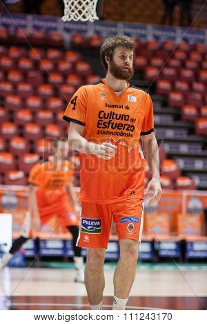 VALENCIA, SPAIN - DECEMBER 12th: Shurna during Spanish League between Valencia Basket Club and Montakit Fuenlabrada at Fonteta Stadium on December 12, 2015 in Valencia, Spain