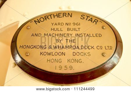 HONG KONG - MAY 06, 2015: interior details of upper deck of a Star Ferry. The Star Ferry is a passenger ferry service operator and tourist attraction in Hong Kong