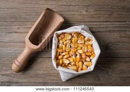 Corn With Bailer