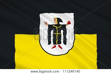 Flag Of Munich Is The Capital And Largest City Of The German State Of Bavaria