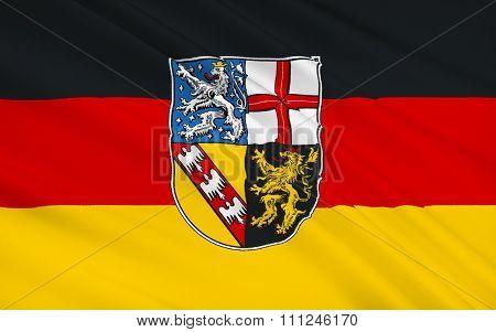 Flag Of Saar - Land Of Germany