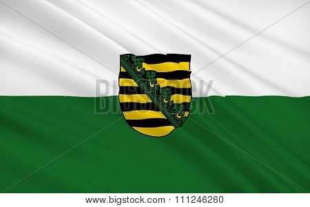 Flag Of Saxony, Free State Of Saxony - As Part Of The Federal State Of Germany
