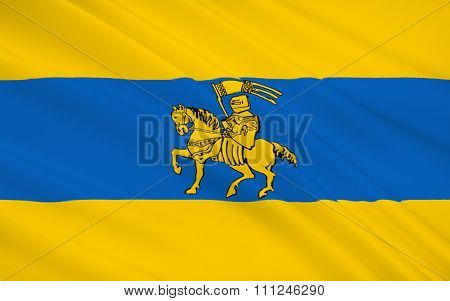 Flag Of Schwerin Is The Capital And Second-largest City Of The Northern German State Of Mecklenburg-