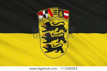 Flag Of Baden-wurttemberg - The Land Of Germany