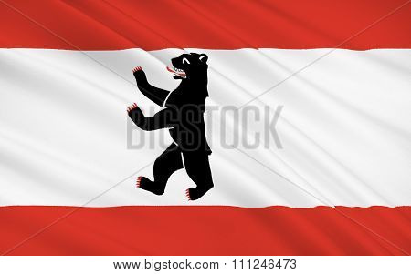 Flag Of Berlin - Capital Of Germany