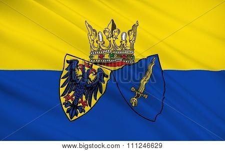 Flag Of Essen Is A City In North Rhine-westphalia, Germany.
