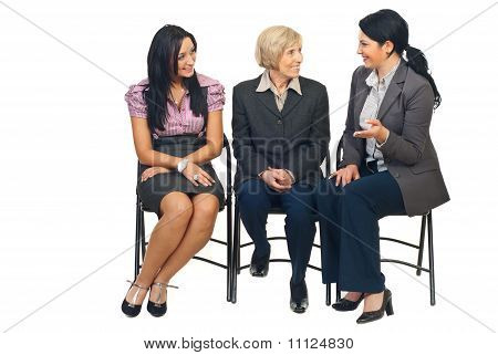 Three Business Women Having Conversation