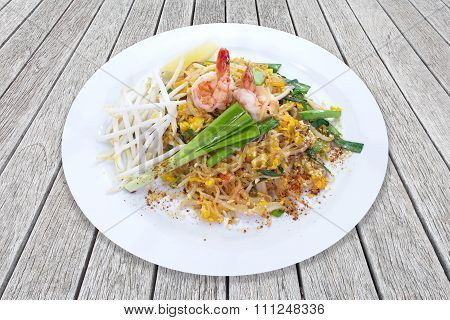 Pad Thai Thai stir-fried rice noodle eggs tofu and vegetable