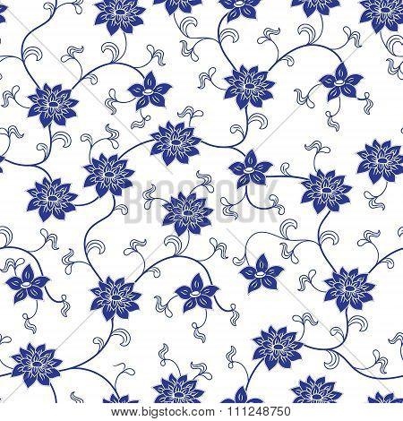 Chinese Porcelain Seamless Pattern