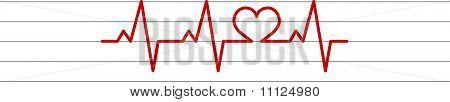vector de electrocardiograma de forma de corazón