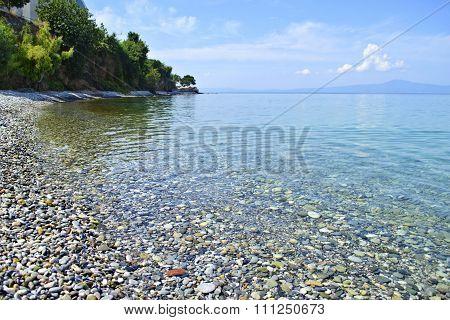Almyros beach in Kalamata Messinia Greece