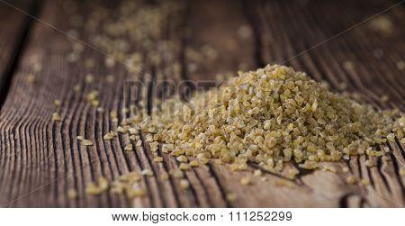 Portion Of Raw Bulgur