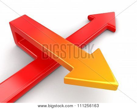 3d Arrows. Image with clipping path