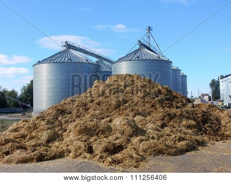 Silo System. Industrial ventilated flat-bottomed silos for long term storage of grains and oilseeds