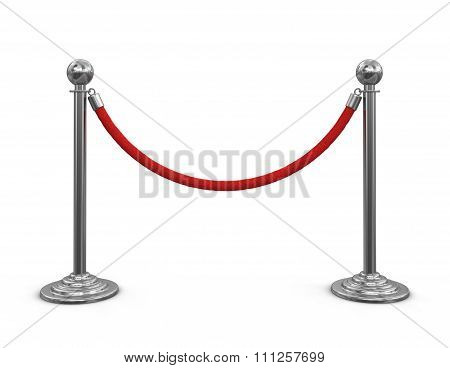 Chrome Stanchions with rope.