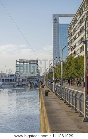 Puerto Madero Boardwalk In Buenos Aires Argentina