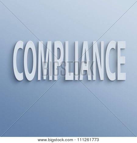 text on the wall or paper, compliance