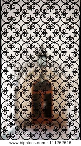 Wrought-iron Grille In The Old Building