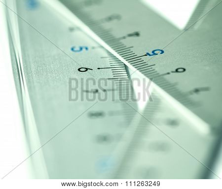 Extremely Selective Focus A Part Of Silver Precision Measurement Tool