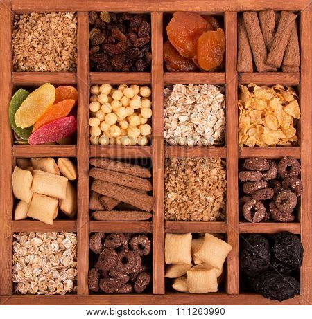 Arrangement of Dried Fruits and Nuts