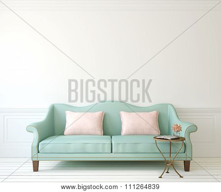 Interior With Couch. 3d rendering.