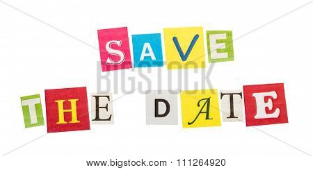 Save the date inscription