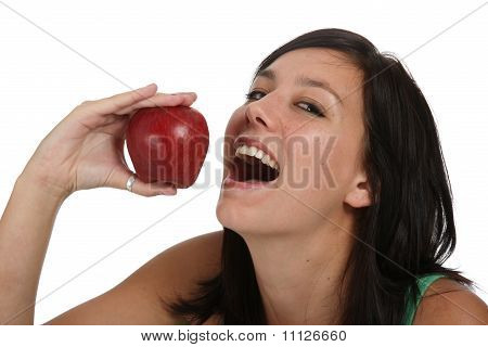 Beautiful Girl With Red Fruit