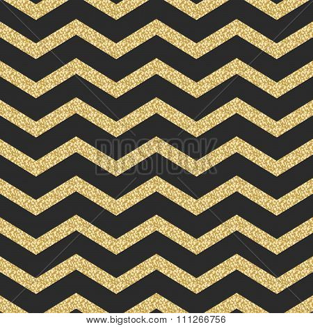 Classic chevron stripe glitter shimmer seamless vector pattern.