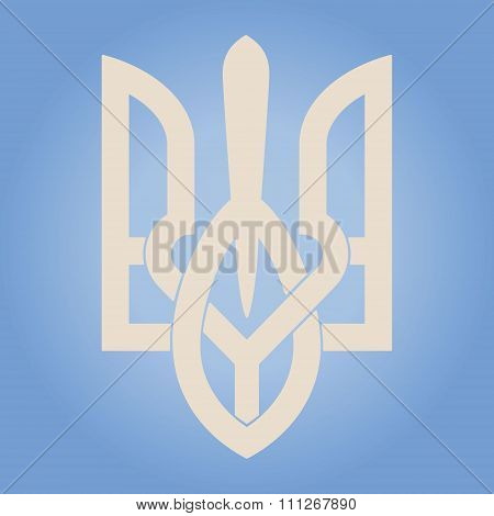 Decorative Ukrainian Trident