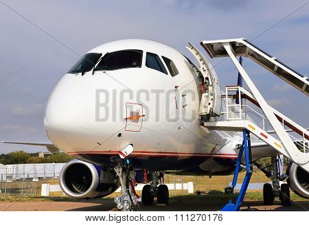Passenger Jet For Service And Refueling