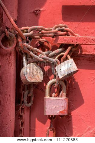 3 Padlocks on the Red Gate