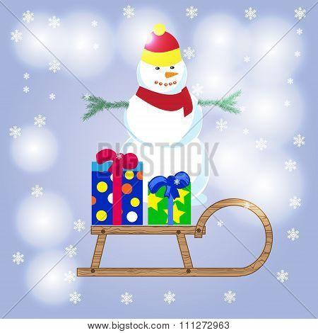 Merry Christmas, Happy Snowman, Snowman Vector, Snowman Christmas, Snowman Background, Snowman Drawi