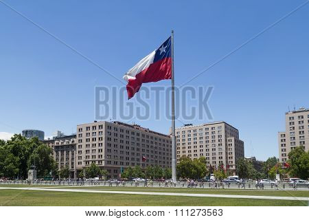 Chilean flag, Santiago de Chile