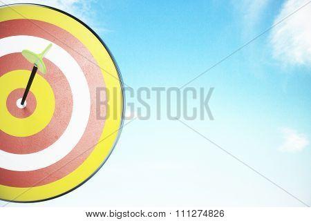 Bullseye Concept At Blue Sky Background