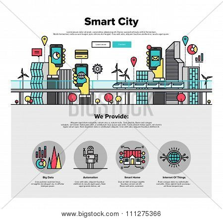 Smart City Flat Line Web Graphics