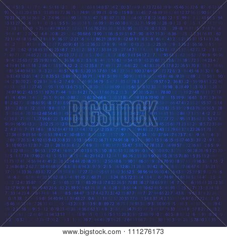 Random numbers abstract Matrix Background. Binary Computer Code. Coding Background Hacker concept. background for banner computer, programming and IT workshop. Vector Illustration.