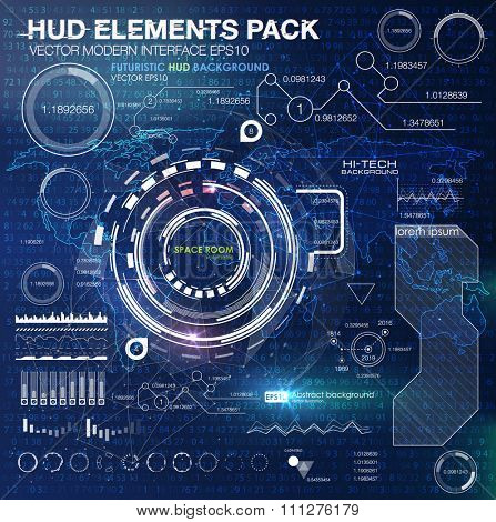 HUD background outer space. infographic elements. futuristic user interface. Vector science Polygonal background. Futuristic HUD background. Vector science abstract matrix background binary code