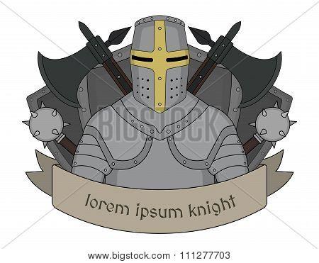 Medieval knight emblem