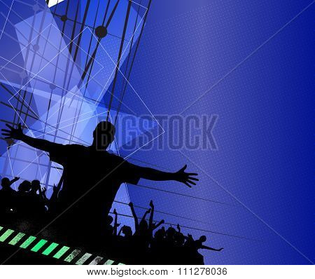 Club party illustration. Music event background.
